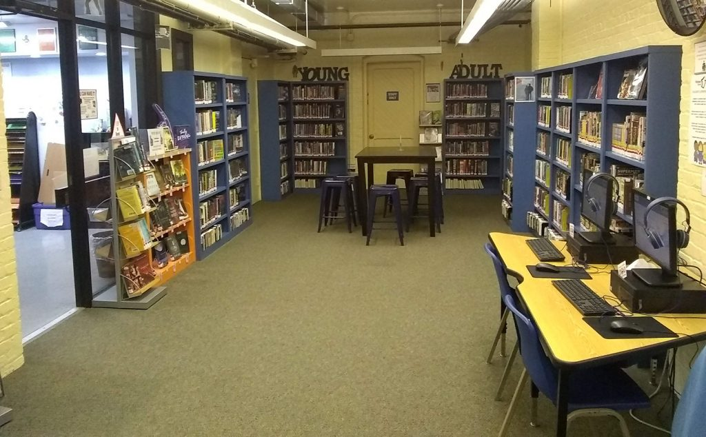 Picture showing the young adult section of the youth department