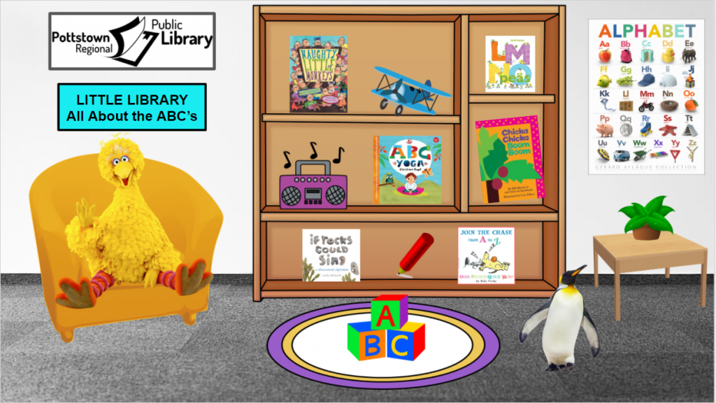 Little library based on the ABC's. Image takes you to a Google Slides Presentation.
