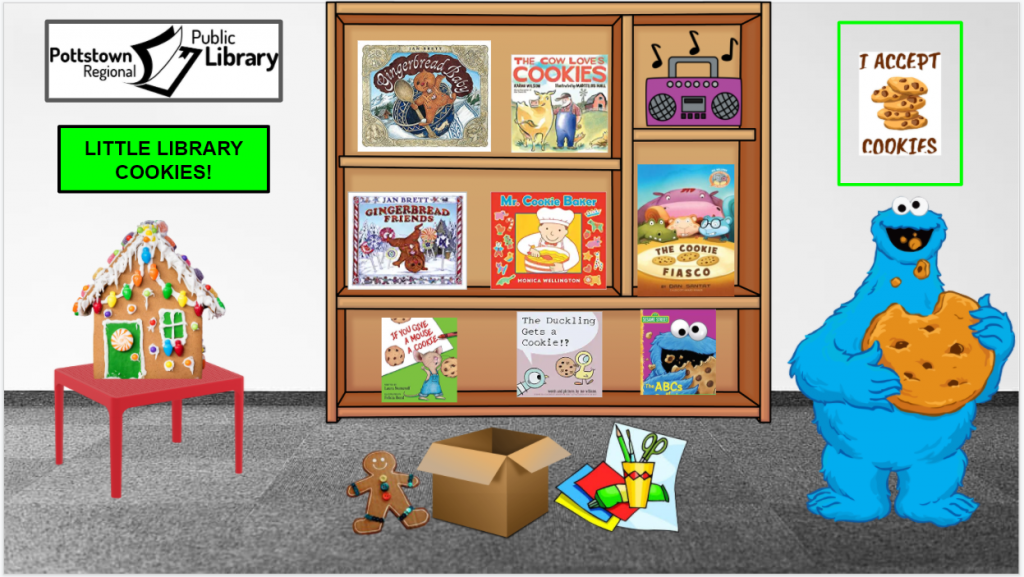 Little Library based on Cookies! Image Takes you to a Google Slides Presentation.