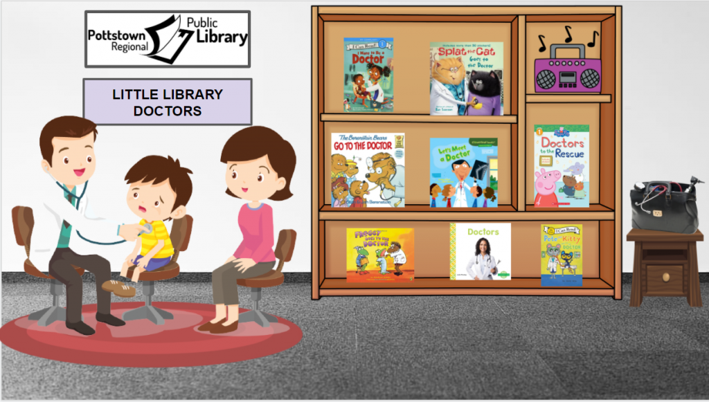 Little Library based on Doctors. Image takes you to a Google Slides Presentation.