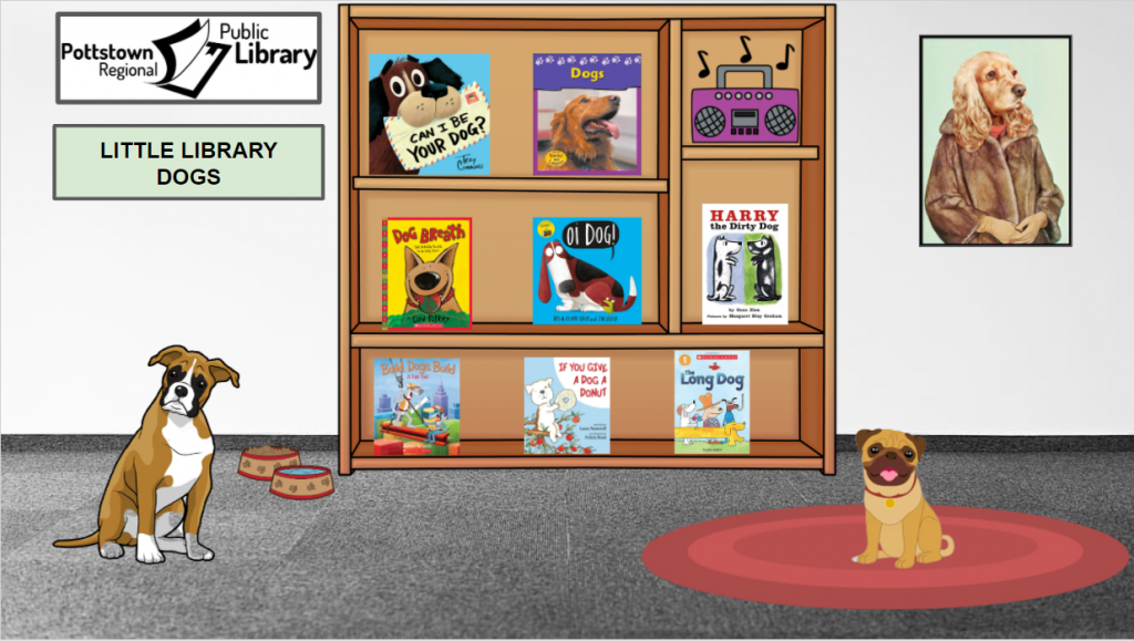 Little Library based on Dogs. Image takes you to a Google Slides Presentation.