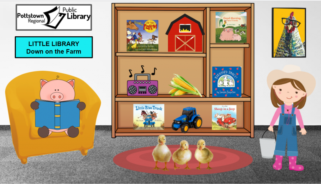 Little Library based on the Farm. Image takes you to a Google Slides Presentation.