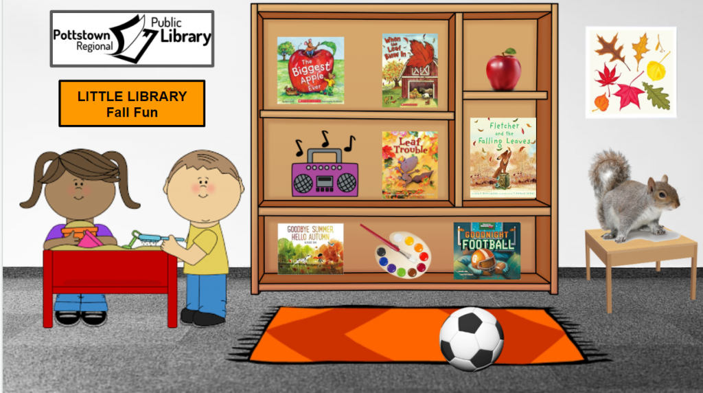 Little library based on the theme of Fall Fun. Image takes you to a Google Slides Presentation.