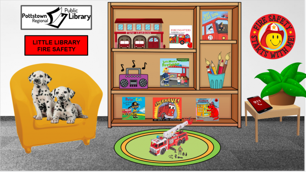 Little library based on Fire Safety. Image is a link that takes you to a Google Slides presentation.