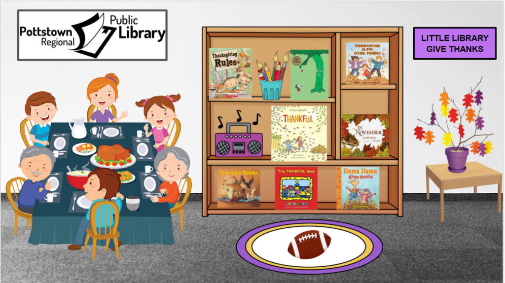Little library based on the theme of Gratitude. Image takes you to a Google Slides presentation.