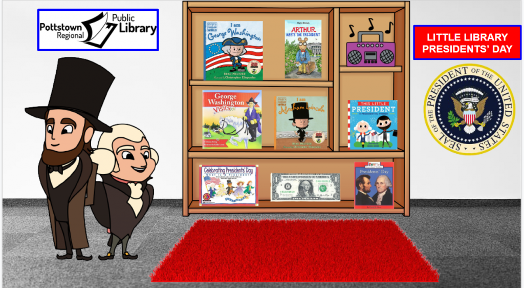Little Library based on President's Day. Image takes you to a Google Slides Presentation.