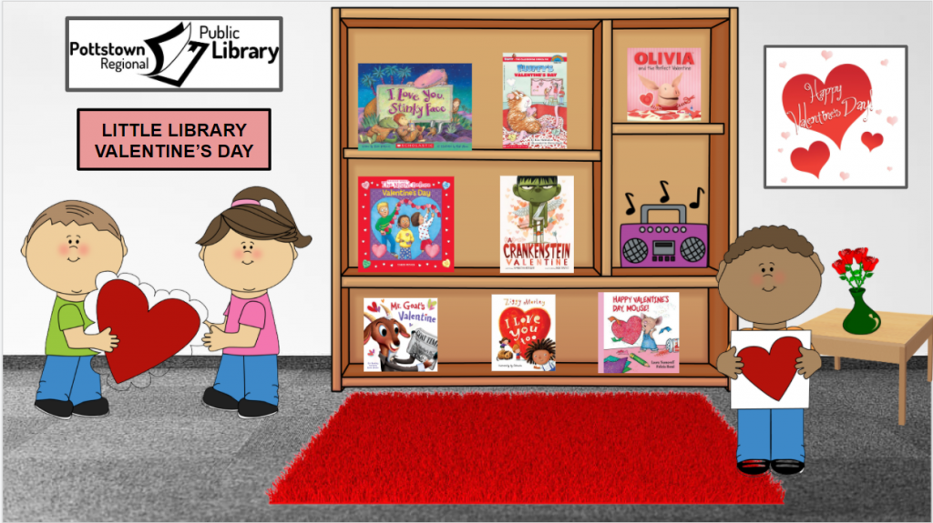 Little Library based on Valentines Day. Image takes you to a Google Slides Presentation.