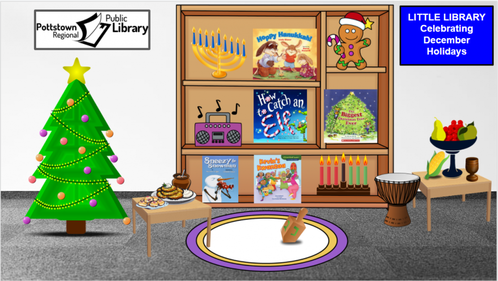 Little Library based on Winter Holidays. Image takes you to a Google Slides Presentation.