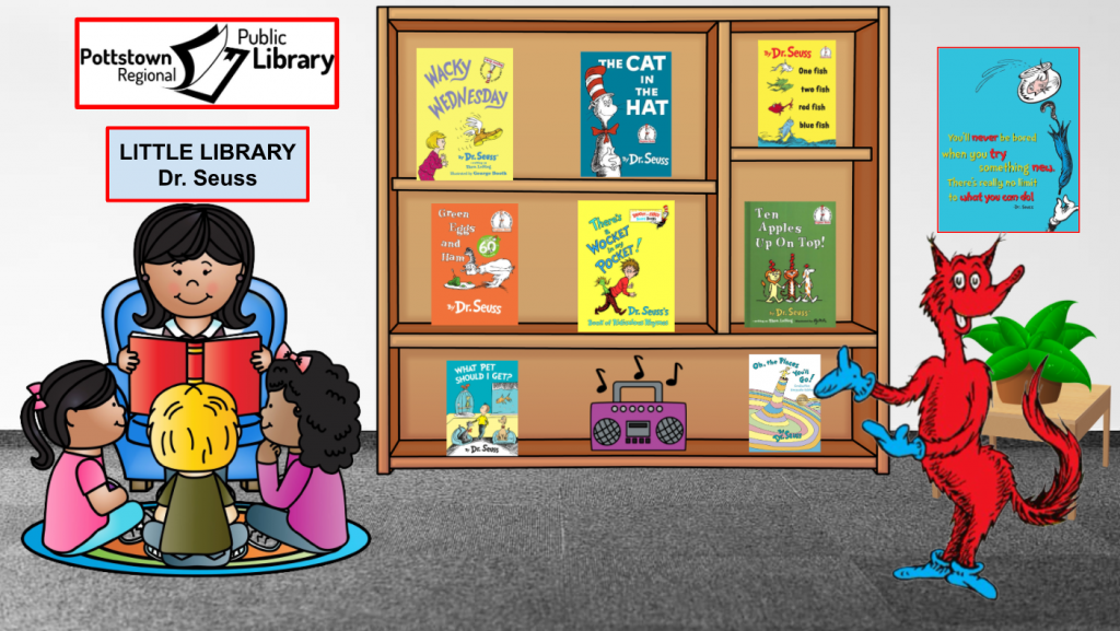 Little Library based on Dr. Seuss, link takes you to Google Slides