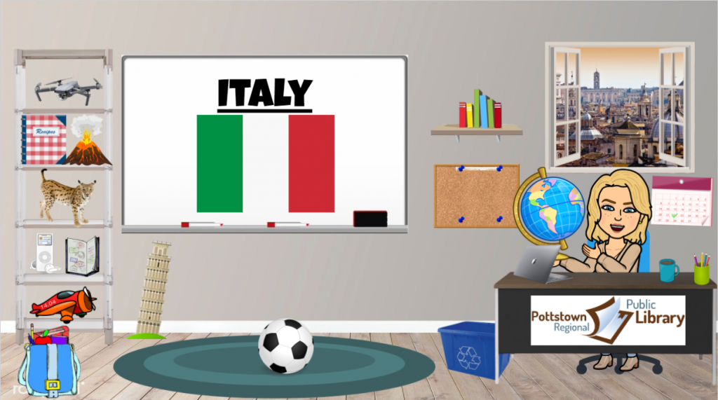 Passport around the world: Italy, Link takes you to Google Slides.
