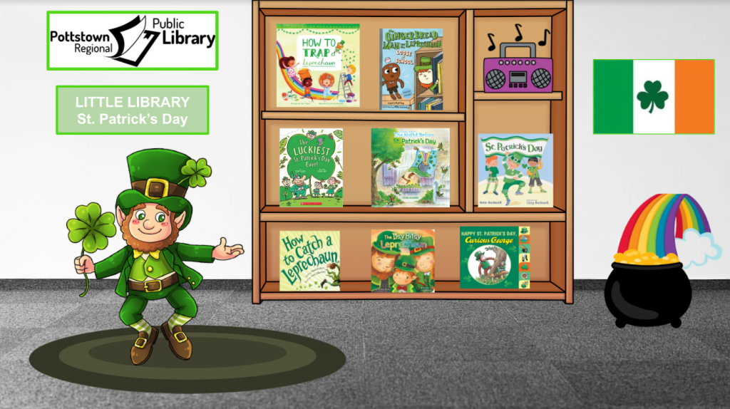 Little library based on St. Patrick's Day.