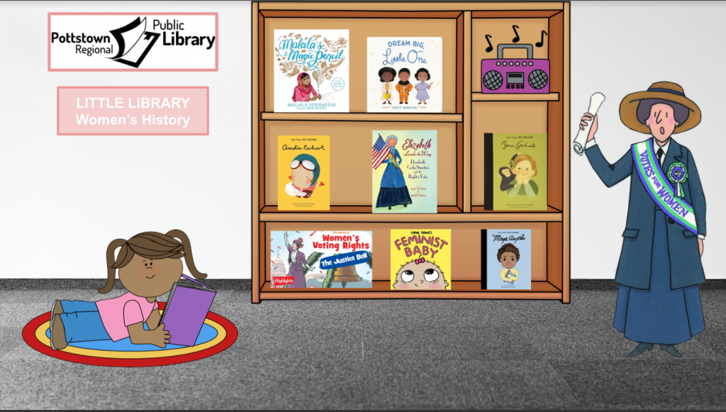 Little Library based on Women's History month, Link takes you to Google Slides