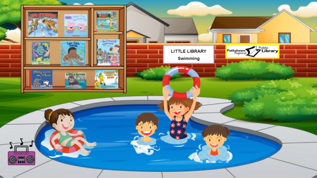 Little library about swimming. Image is a link that takes you to a google slide presentation.