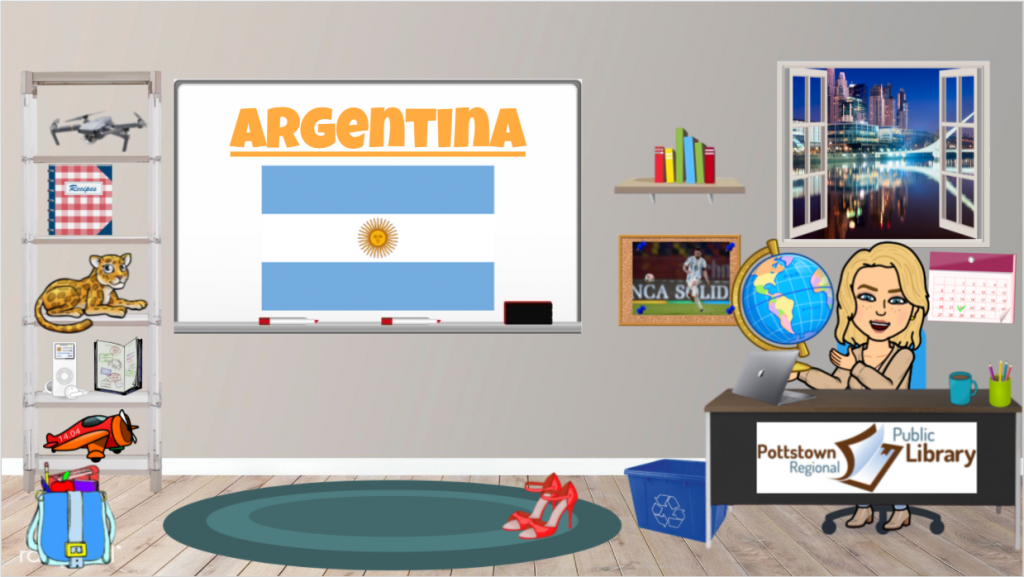 Passport around the world Argentina. picture is a link that takes you to a google slide presentation about Argentina