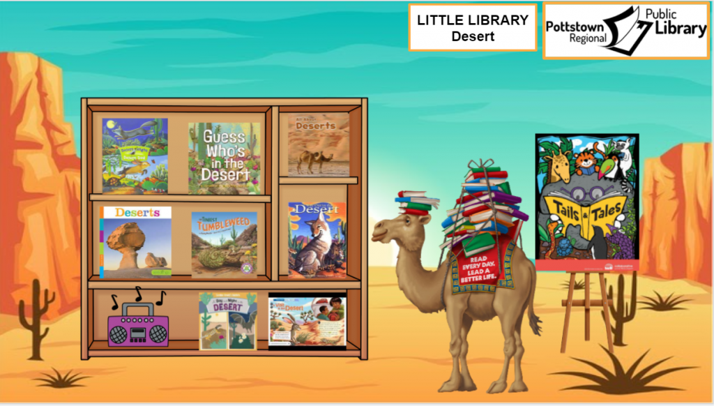 Little Library Desert, picture is a link that takes you to a google slides presentation about Deserts.