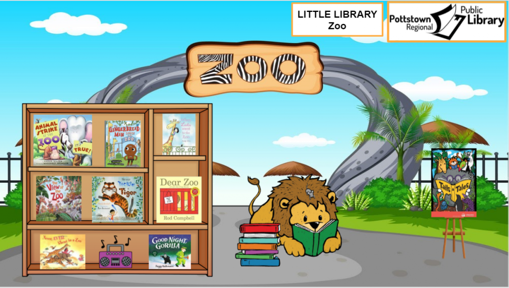 Little Library about the Zoo. Picture is a link that takes you to a Google Slides Presentation about the zoo.
