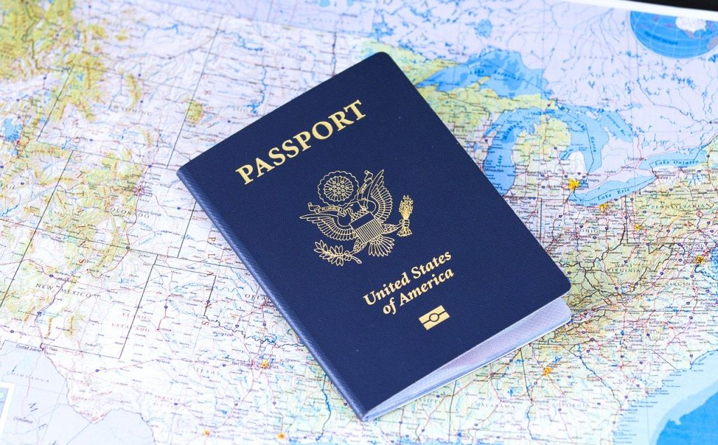 Picture of a Passport on a Map showing a link to the Passport page.